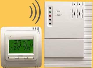 Thermostat Funk TH30 mit Empfänger Aufputz RL20