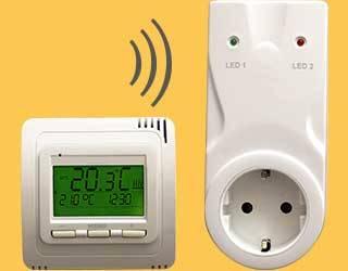 Thermostat Funk TH30 mit Empfänger Stecker RL30
